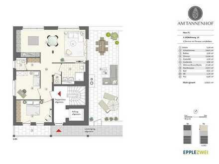 FÜR SONNENLIEBHABER: barrierefreies Penthaus mit rund 50 m² Dachterrasse & Balkon