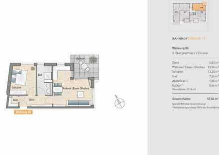 Moderne 2-Zimmer-Neubauwohnung