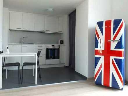 Exklusive, frisch renovierte und schick möblierte Dachterrassen-Wohnung in ruhiger Lage in Bessungen
