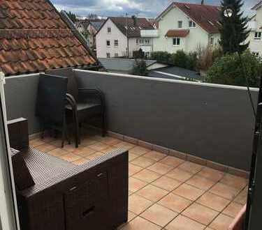 Außergewöhnliches Wohnen - offene Dachgeschosswohnung mit 2 Balkonen !