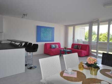 Olympiadorf, Vollmöbliert, Schöne, großzügige 3- Zimmer Wohnung mit offener Küche und Wintergarten