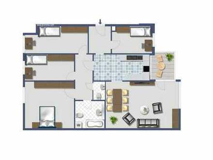 Großzügige, ruhig gelegene 124 qm 5 Zimmer-Wohnung am Westpark, Nähe Harras
