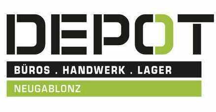 DEPOT Neugablonz, Einzelbüros, Produktionsflächen 30 - 240 qm flexibel kombinierbar