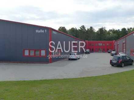 1.900 m² stützenfreie Neubauhalle + Büro an der A10