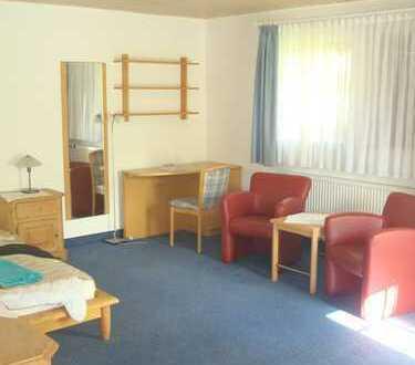 Gepflegte 1,5-Zimmer-EG-Wohnung, möbliert, mit Terrasse und Einbauküche in Schöntal