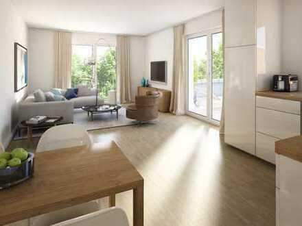 Attraktive 3-Zimmer-Wohnung mit Terrasse und kleinem Gartenanteil
