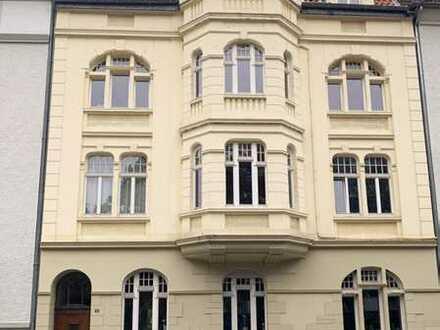 Vermietete Erdgeschosswohnung in einem Vier-Familienhaus mit großem Garten zur Alleinnutzung