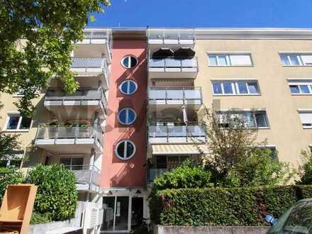 Innenstadtnah und barrierefrei: Gepflegte, vermietete 2-Zimmer-Wohnung mit Balkon in zentraler Lage
