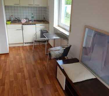 Exklusive, gepflegte 1-Zimmer-EG-Wohnung mit Balkon und EBK in Nördlingen