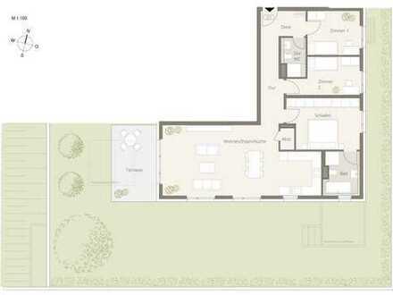 4,5 Zimmer Gartentraum *** Obere Ziegelei *** Das neue Architektur-Highlight in Backnang