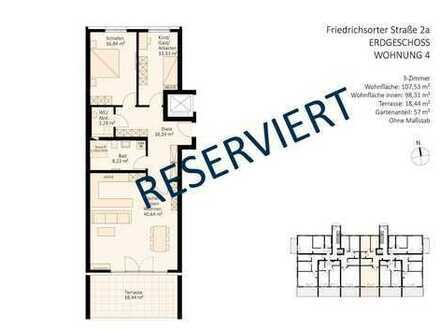 RESERVIERT - großzügiger Wohnkomfort im Erdgeschoss (inkl. Gäste-WC)