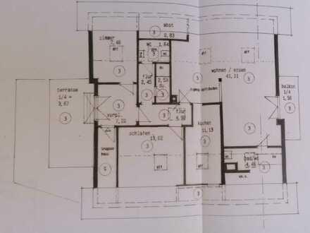 Freundliche 3-Zimmer-Dachgeschosswohnung mit 2 Balkonen und Einbauküche in Gaggenau-Hörden