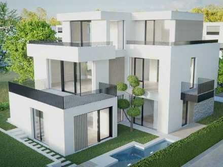 Projektierte Design-Villa am Wasser zwischen Naturschutzgebiet und Schlosspark (mit Baugenehmigung)