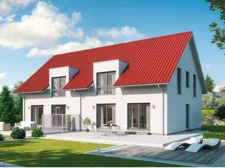 Neubauprojekt in Buggingen-Seefelden. Doppelhaushälfte auf großem Grundstück