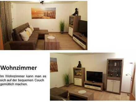 Möblierte 4-Zimmer-Wohnung mit Garten