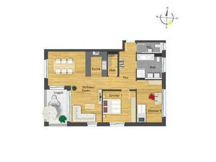 Offene 3-Zimmer-Wohnung mit idealer Raumaufteilung