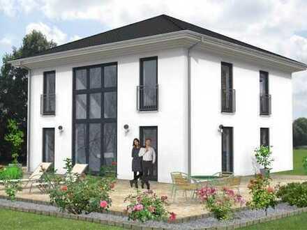 Praktische Stadtvilla - Wohnen in Schwedt - Energie Effizienzhaus 55 - spart 45 % Energie!