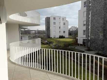 Mit Rheinblick: Hochwertige 2 Zimmer-Wohnung mit Wellnessbereich