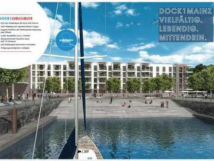 Exklusive 4-Zimmer-Wohnung im Zollhafen Mainz, unmittelbar an Hafenbecken und Promenade