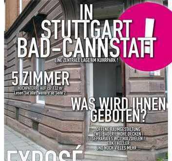 5 Zimmer Gewerbeeinheit in Stuttgart Bad Cannstatt - Stilvoller Altbau Nähe Kurpark