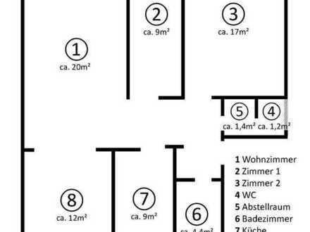 Gepflegte 4-Z-Wohnung mit Balkon in Bottrop-Fuhlenbrock