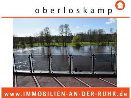 Erfolgreich durch uns vermittelt binnen weniger Tage: Penthouse mit 7 Stellplätzen am Ruhrufer