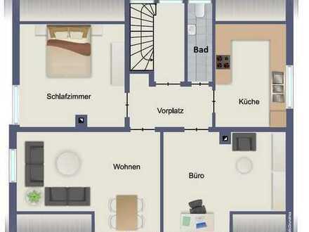 Erstbezug nach Renovierung: 5-Zimmer-Dachgeschosswohnung auf 2 Ebenen in Leonberg