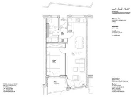 Erstbezug: stilvolle 2-Zimmer-Wohnung mit Balkon in Augsburg