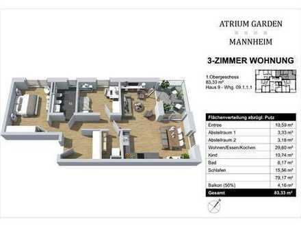 Raumkühlsystem in Lieblingswohnung: Geschützt und doch zentral in Mannheim