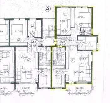 Stilvolle, modernisierte 4-Zimmer-Wohnung mit Südbalkon und Einbauküche in Ludwigsburg