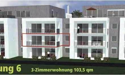 Großzügige 3,5 Zi.-Neubau-Wohnung mit Balkon auf der Sonnenseite WHG_06 direkt am Waldrand