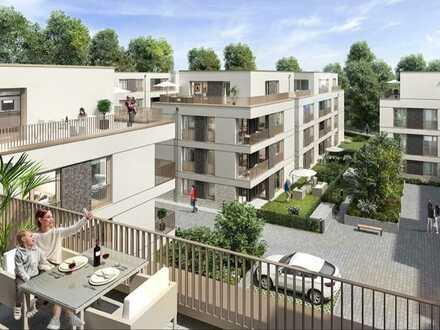 Exklusive Penthouse-Wohnung mit 2 Dachterrassen eingebettet in eine beruhigende Gartenanlage