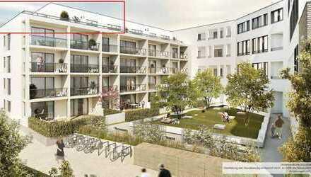 Erstbezug: Exklusive 3-Zimmer-Penthouse-Wohnung mit Einbauküche und großer Dachterrasse in Hochheim