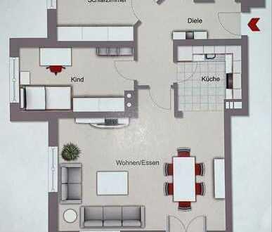 Schöne 3-Zimmer-EG Wohnung mit Terrasse in Türkheim