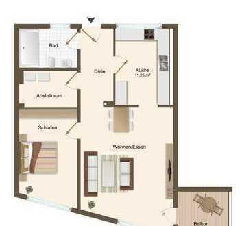 Erstbezug im Neubau. 2,5 Raum-Wohnung mit Balkon, Aufzug und KFZ-Stellplatz