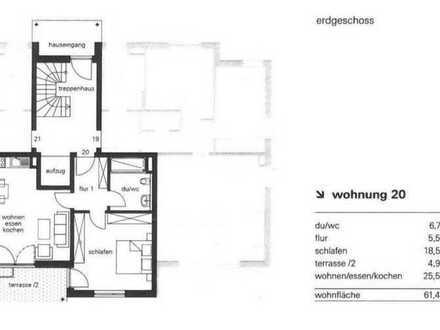 Erstbezug: stilvolle 2-Zimmer-EG-Wohnung in Memmingen