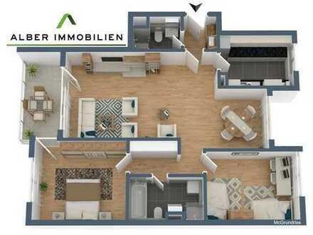 Schöne 3,5-Zimmer-Wohnung im EG mit EBK, Garage und Balkon in Altbach - barrierefrei