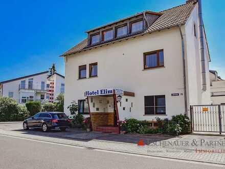 Entwicklung zum MFH oder Weiterführung als Hotel! Sehr gute Lage von Hochheim am Main!