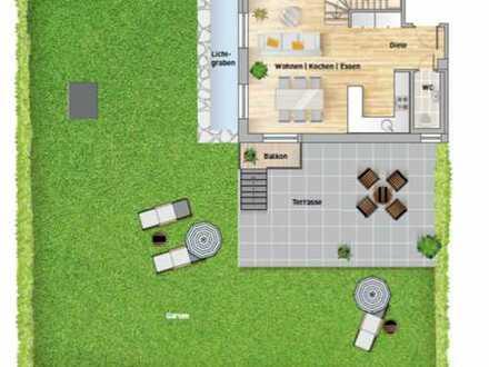 Exklusive, neuwertige 3-Zimmer-EG-Wohnung mit Garten und Einbauküche in Pasing, München