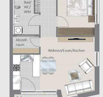 Erstbezug! 2,5-Zimmer-Wohnung - ideal für Singles und Senioren!