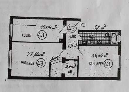 Sanierte 2-Zimmer-Wohnung mit EBK in Karlsruhe