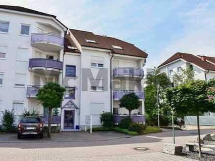 Gepflegte 2-Zi.-ETW mit Balkon und TG-Stellplatz in grüner Ortsrandlage