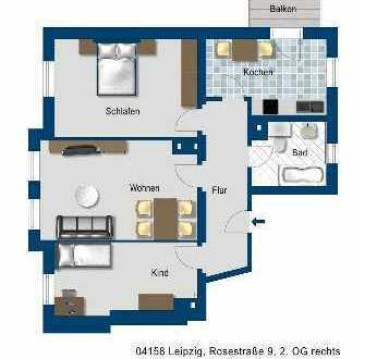 Schöne 3-Zimmer-Wohnung mit Balkon in Leipzig - Familien aufgepasst