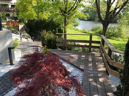 Lichtdurchf, geräumige 3-Zimmer-Wohnung mit Terrasse und japanischem Garten in Seligenstadt