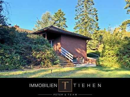 Am Wald und nahe der Hase - Bungalow in Bokeloh: 1.243 qm Grundstück, ebenerdiges Wohnen, Vollkeller