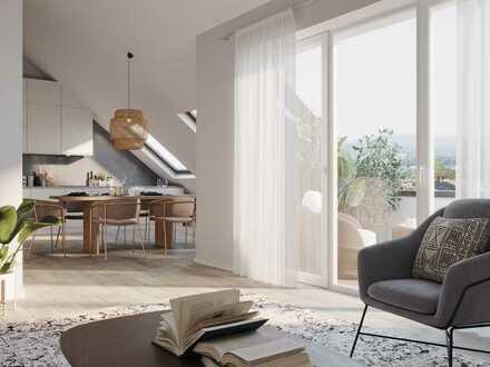 NEUBAU - Stilvolle 3 Zimmer Wohnung im Dachgeschoss mit Dachterrasse
