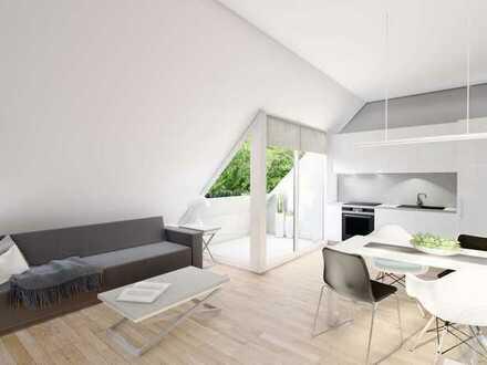 Traumhaft, ruhige 2-Zimmer Dachgeschosswohnung mit Loggia