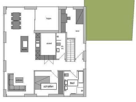 Neubau/Erstbezug: traumhafte 3,5 Zimmer Wohnung im OG, 96,5 m², mit Loggia in Güglingen