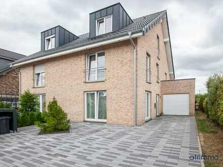 Blick ins Grüne, Whirlpool: Moderne Doppelhaushälfte mit ca. 165 qm für die junge Familie in Neuss