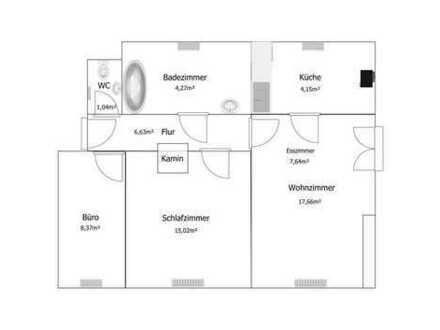 3 Zimmer Dachgeschosswohnung in Top Lage!